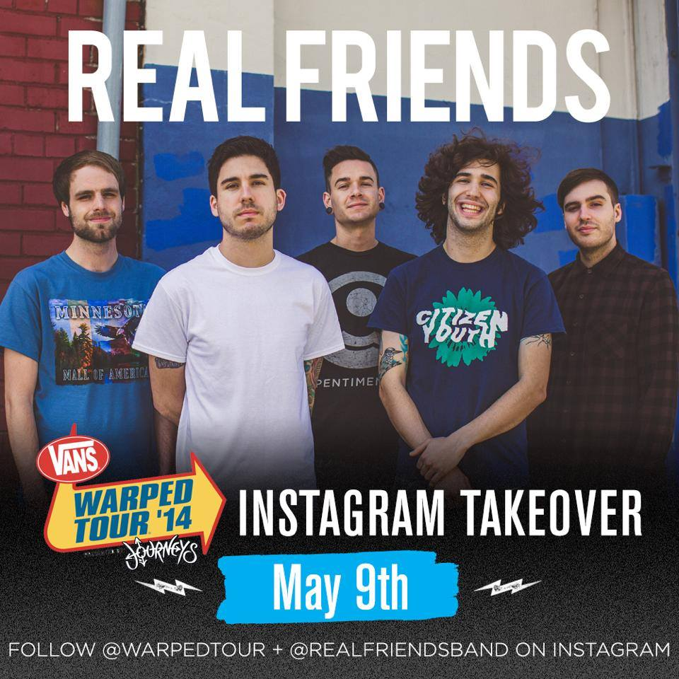Warped Tour Instagram takeover | Real Friends