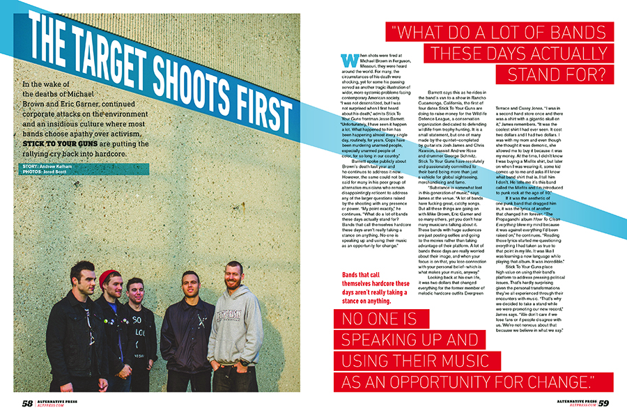 Alternative Press feature | Stick to Your Guns