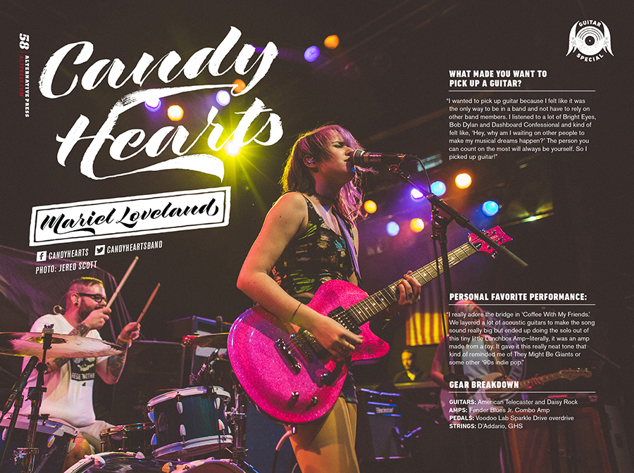 Alternative Press guitarists feature | Candy Hearts