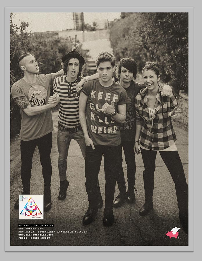 The Summer Set ad | Glamour Kills Clothing