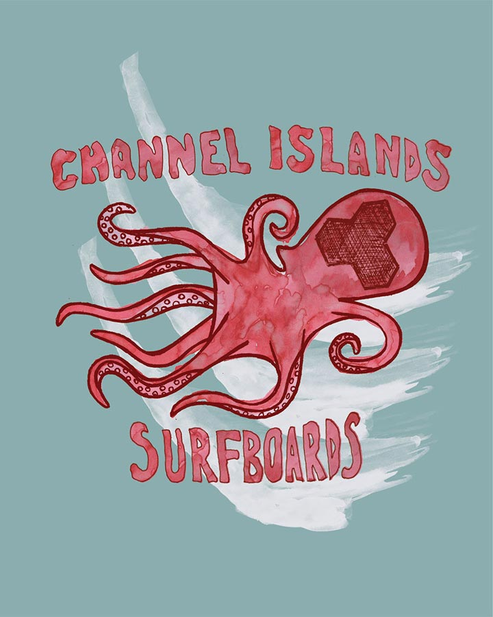 Octosurf Shirt Design | Channel Islands