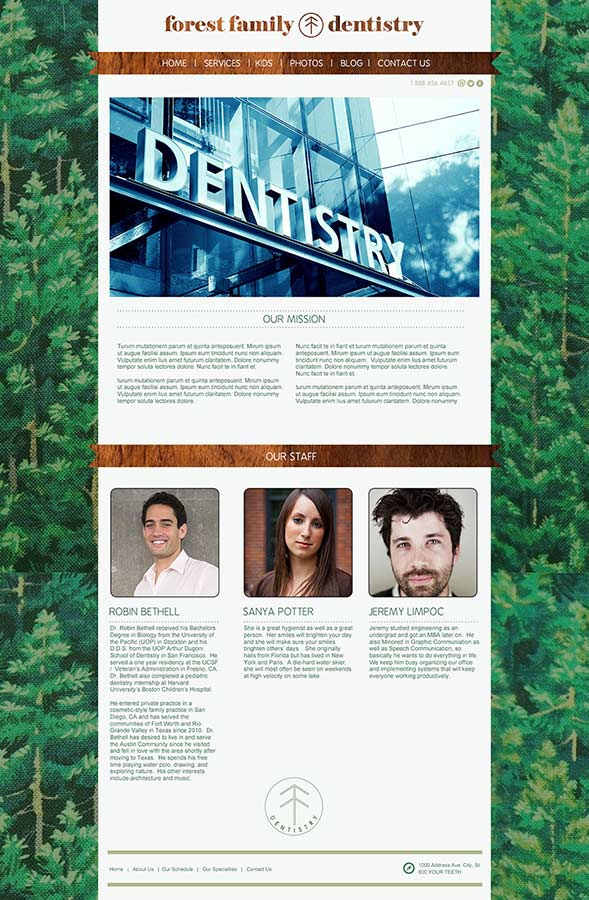 Forest Family Dentistry | Web Design