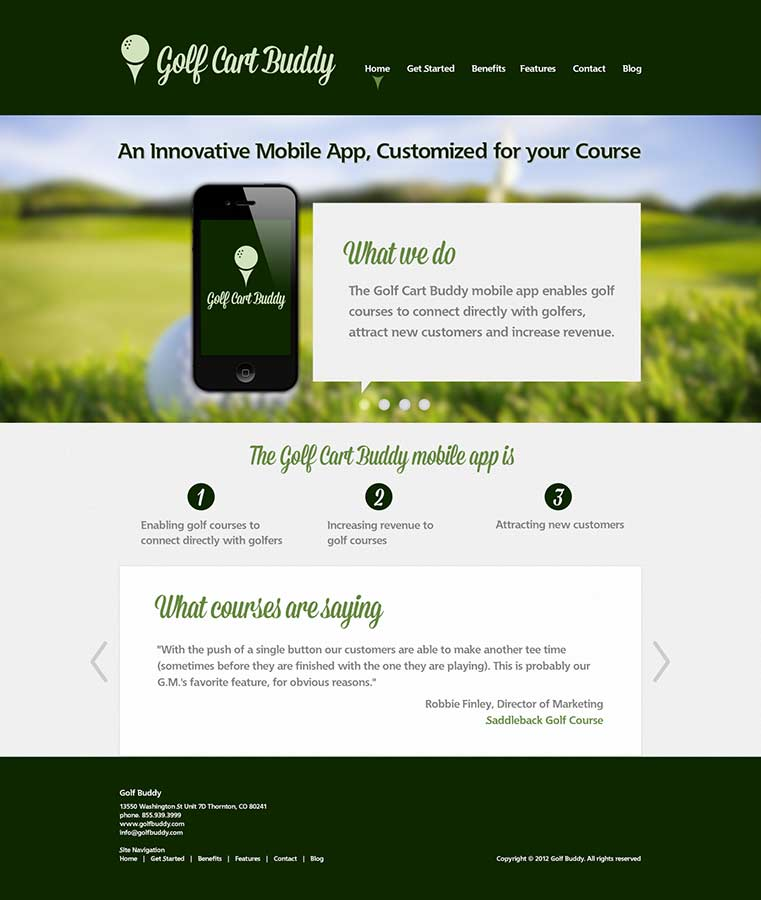 Golf Cart Buddy | Web Design