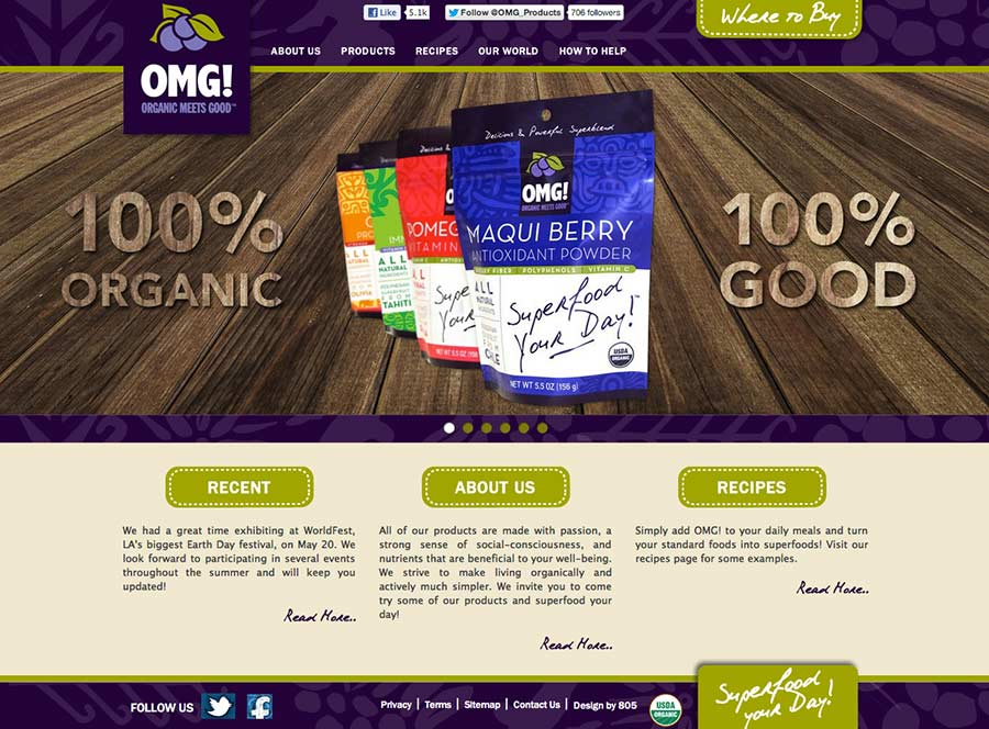 Organic Meets Good | Web Design